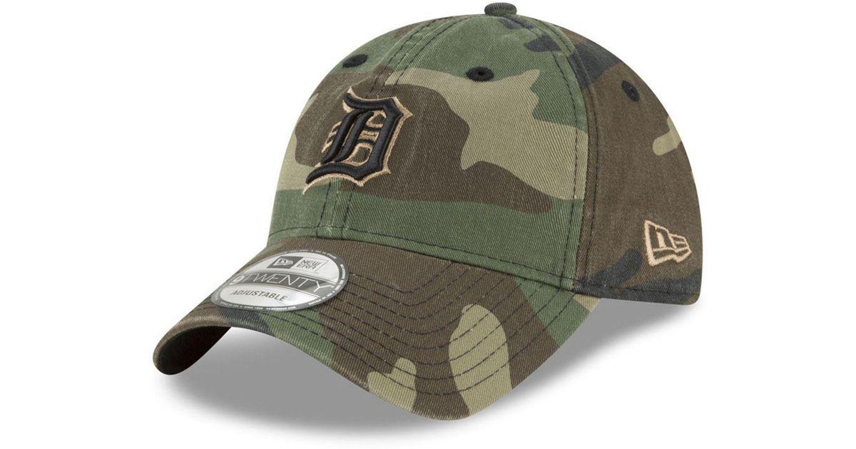 newest collection 63c1e 02afe KTZ Detroit Tigers Camo Core Classic 9twenty Cap in Green - Lyst
