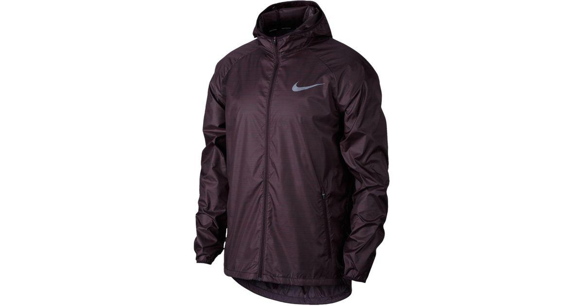 c93a8c0f16 Nike Men's Essential Hooded Water-resistant Running Jacket in Purple for Men  - Lyst