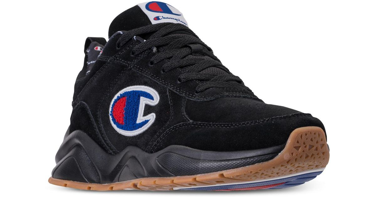 3d5440fed036 Lyst - Champion 93eighteen Suede Chenille Athletic Training Sneakers From  Finish Line in Black for Men