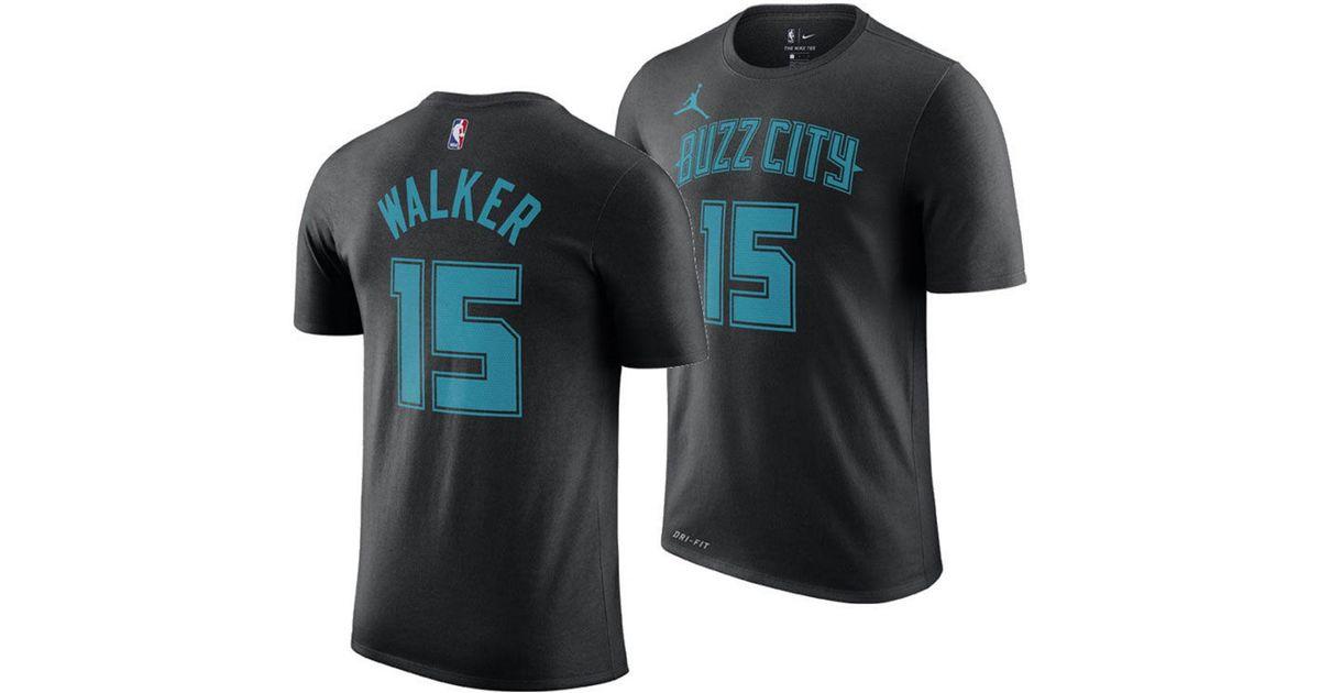 online retailer 5e67b df8fd Nike Black Kemba Walker Charlotte Hornets City Edition Jordan Dri-fit Nba  T-shirt for men
