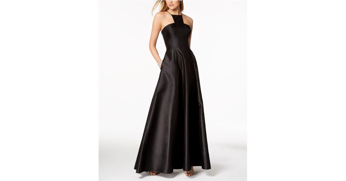 Lyst - Adrianna Papell Mikado Satin Modern Gown in Black