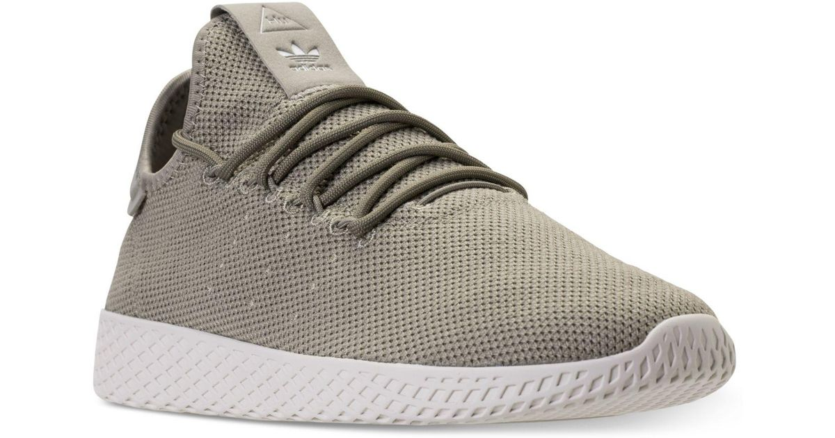 13cfc87b50caf Lyst - adidas Men s Originals Pharrell Williams Tennis Hu Casual Sneakers  From Finish Line in Gray for Men