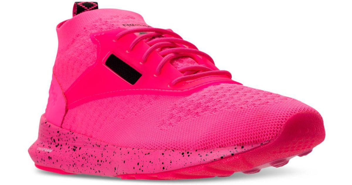 81edd985bf6 Lyst - Reebok Men s Classic Zoku Runner Ultraknit Casual Sneakers From  Finish Line in Pink for Men