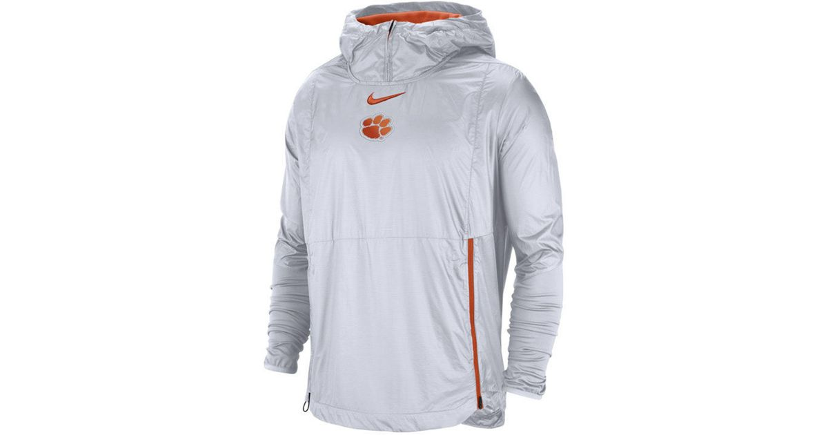 Nike White Clemson Tigers Fly Rush Jacket for men