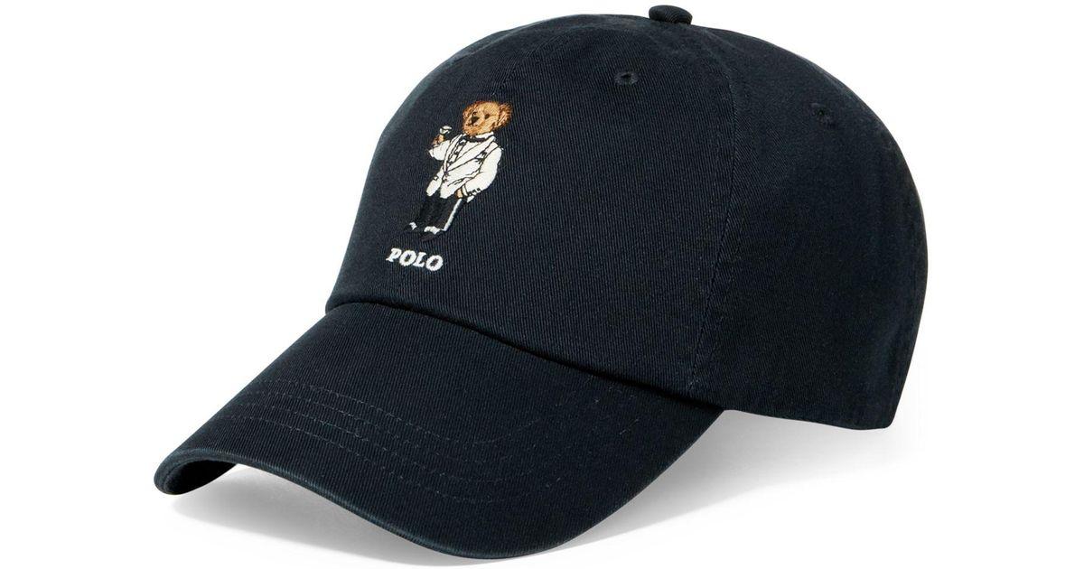 4bf404751 Polo Ralph Lauren Men s Polo Bear Cotton Cap in Blue for Men - Lyst