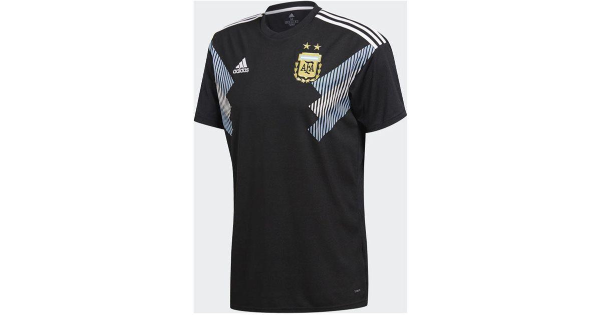 new concept 6341b 97b41 Adidas Black Argentina National Team Away Stadium Jersey for men
