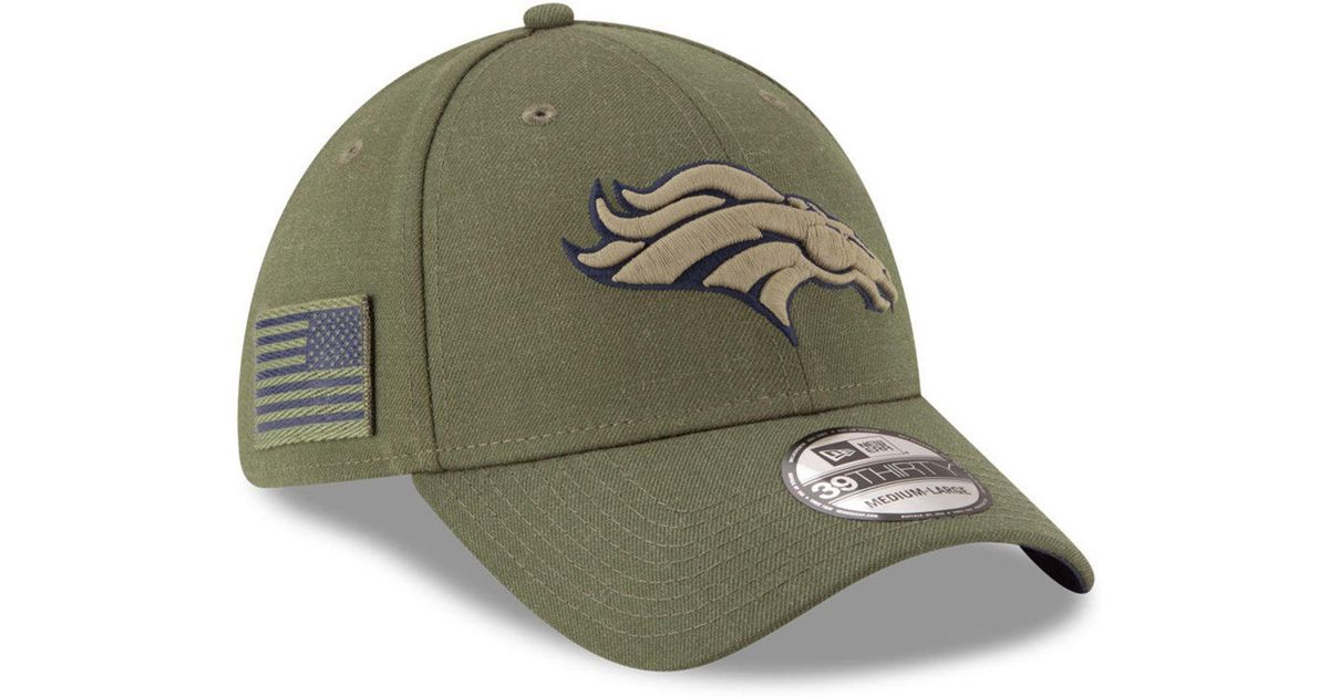 Lyst - KTZ Denver Broncos Salute To Service 39thirty Cap in Green for Men 869aa5a3e