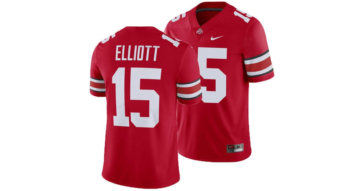 new concept d67b7 a34fb Nike Red Ezekiel Elliott Ohio State Buckeyes Player Game Jersey for men