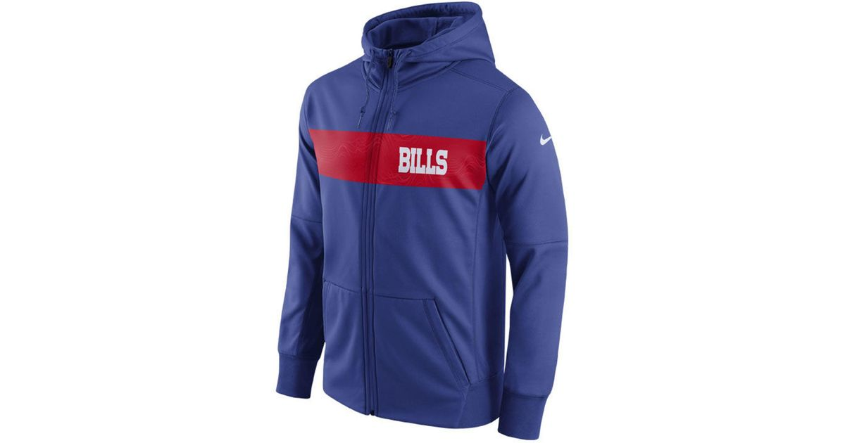 designer fashion e06f7 28d19 Nike - Blue Buffalo Bills Seismic Therma Full-zip Hoodie for Men - Lyst
