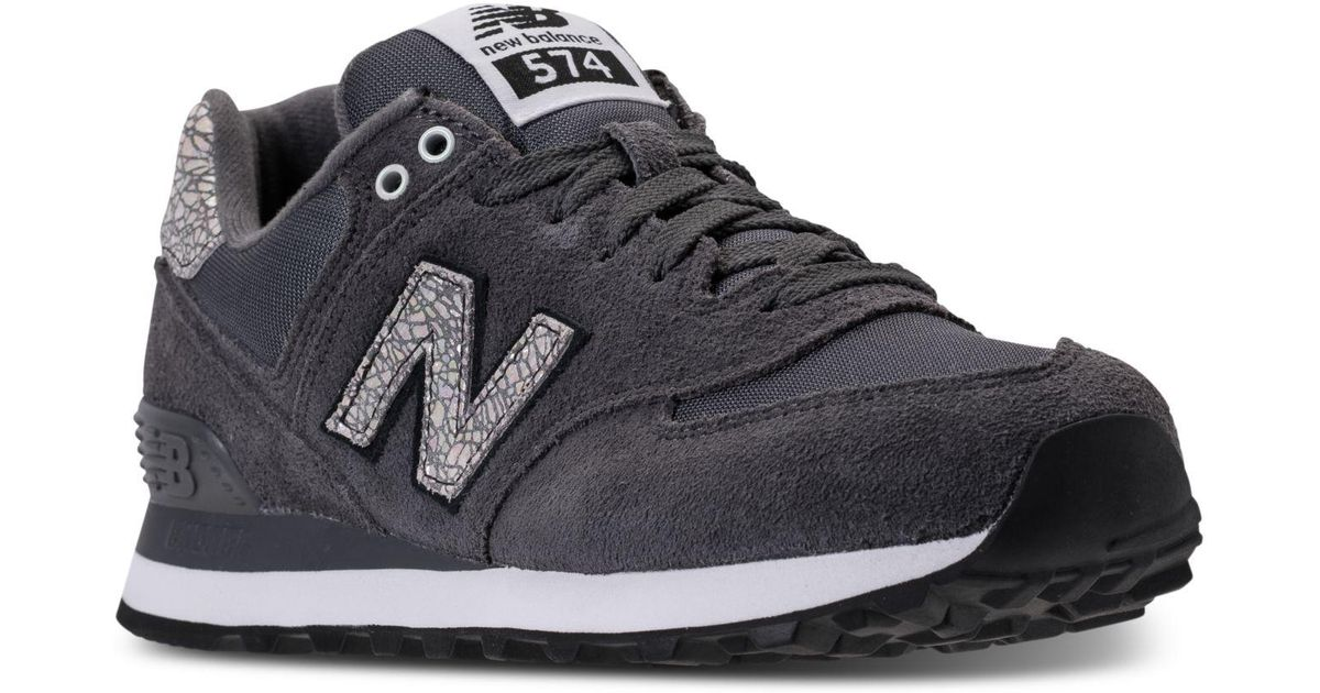 58610c4215772 New Balance - Black Women's 574 Shattered Pearl Casual Sneakers From Finish  Line - Lyst