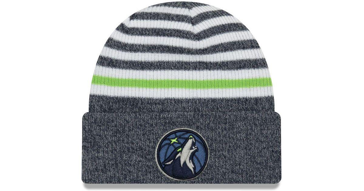 Lyst Ktz Minnesota Timberwolves Striped Cuff Knit Hat In Blue