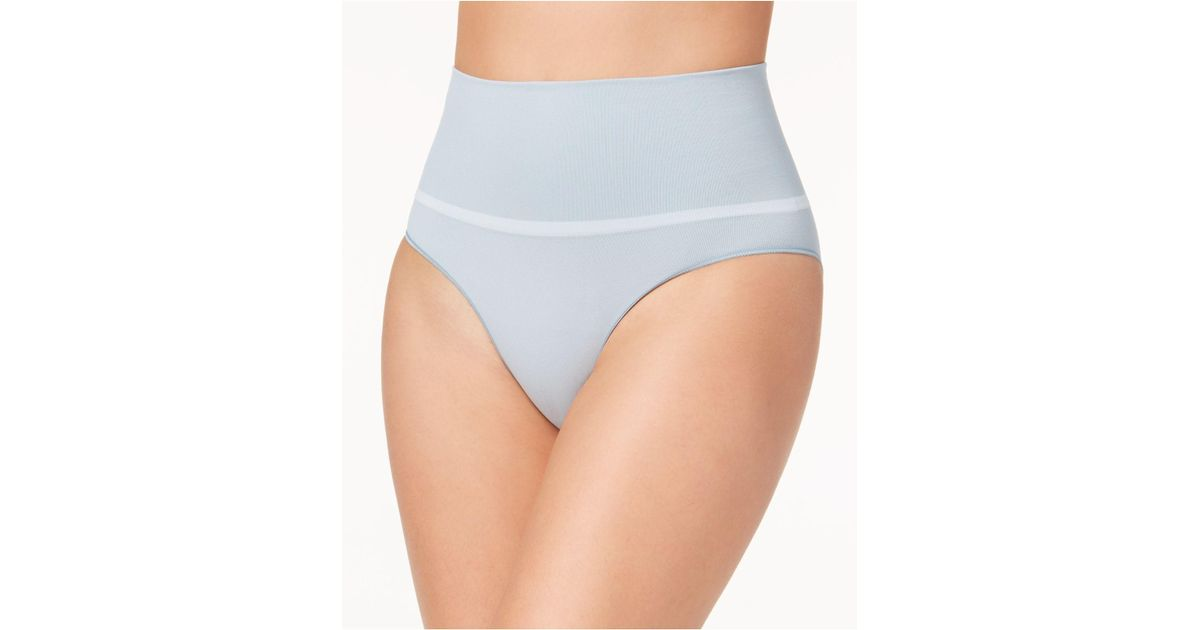 32d1072cc Lyst - Spanx Everyday Shaping Panties Brief Ss0715 in Blue