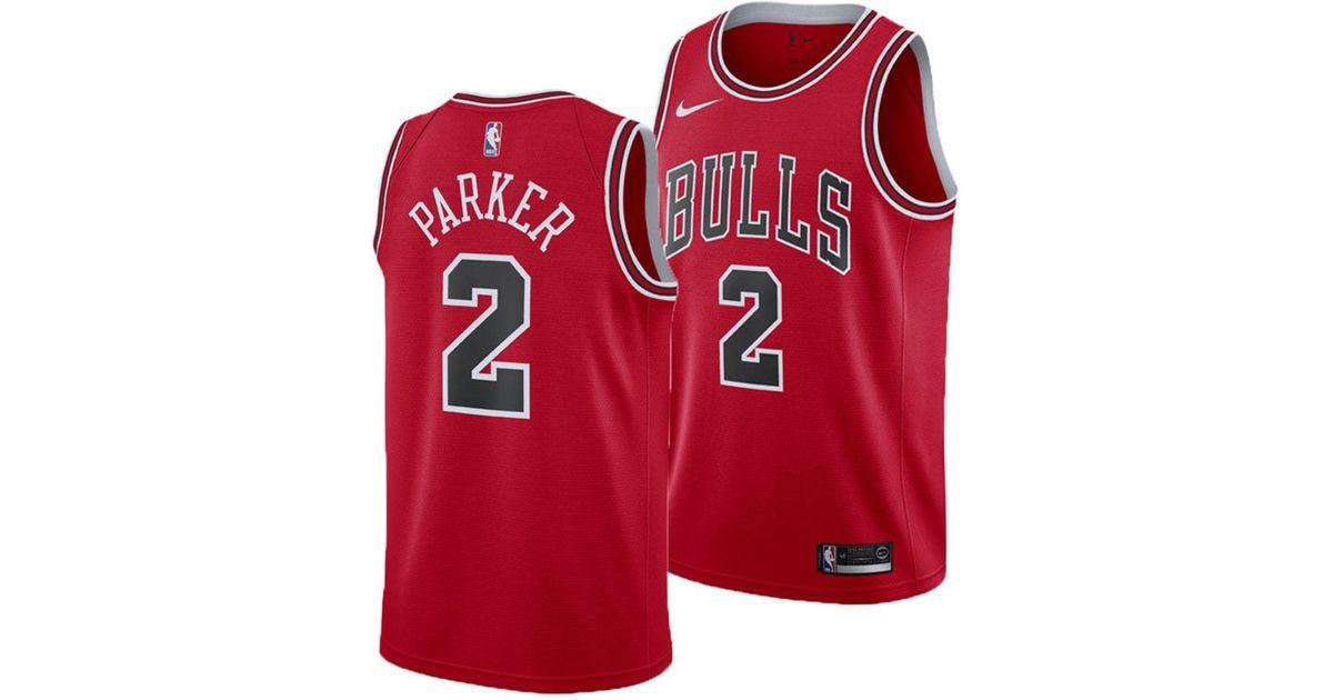 brand new 57823 f59f8 Nike Red Jabari Parker Chicago Bulls Icon Swingman Jersey for men