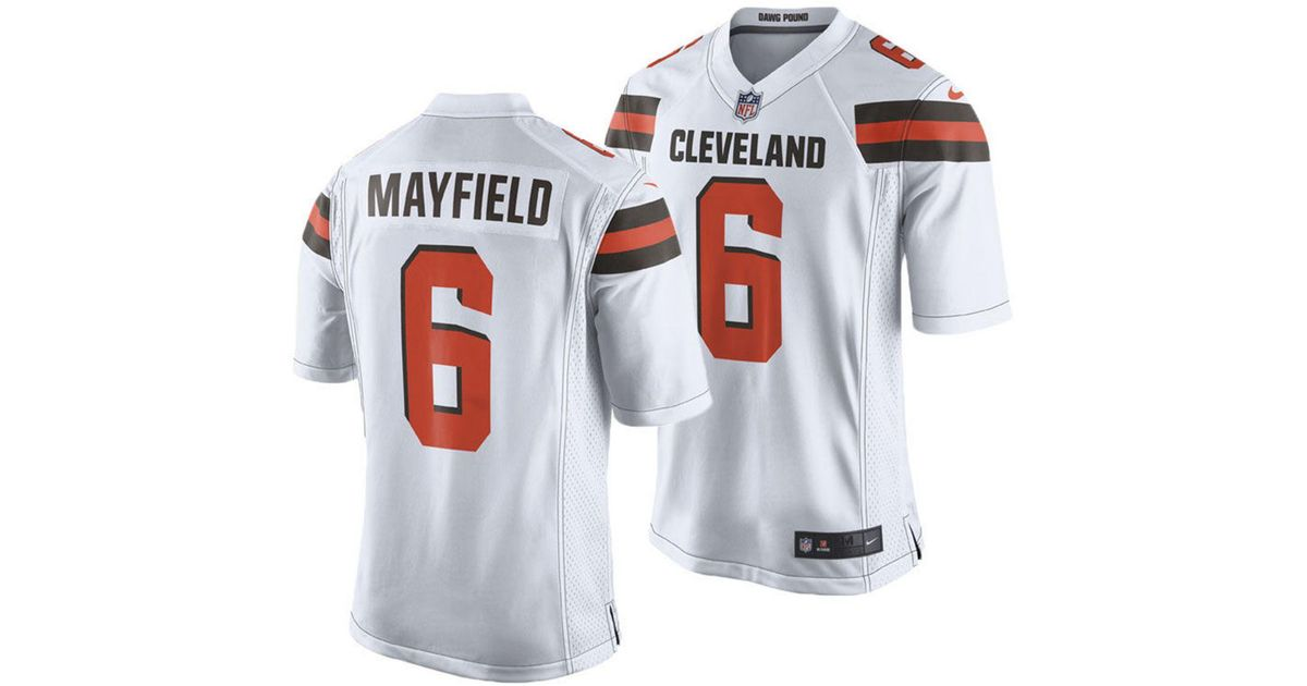 newest 5bcc1 c2b84 Nike - White Baker Mayfield Cleveland Browns Game Jersey for Men - Lyst
