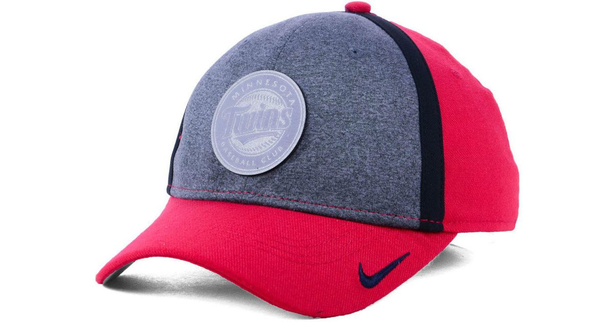 newest 9bd01 8a159 ... order lyst nike minnesota twins team color reflective swooshflex cap in  red for men 459fa 9c706