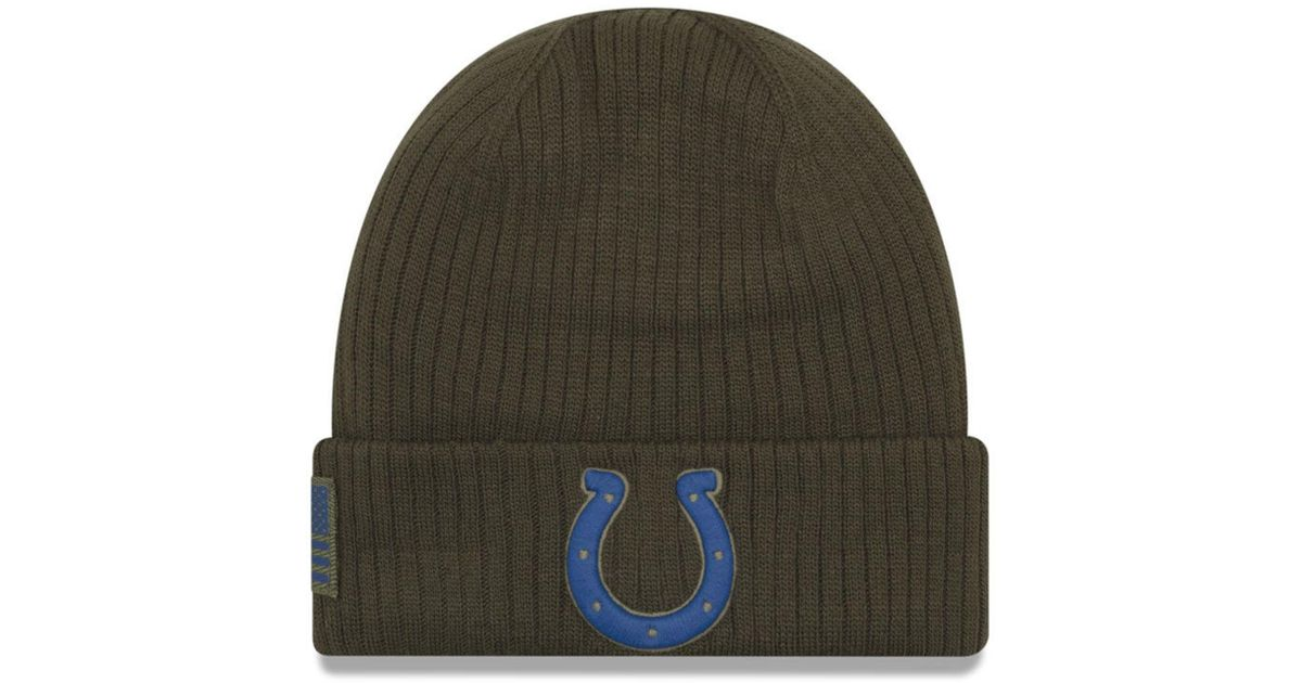 4f297da16 Lyst - KTZ Indianapolis Colts Salute To Service Cuff Knit Hat in Green for  Men