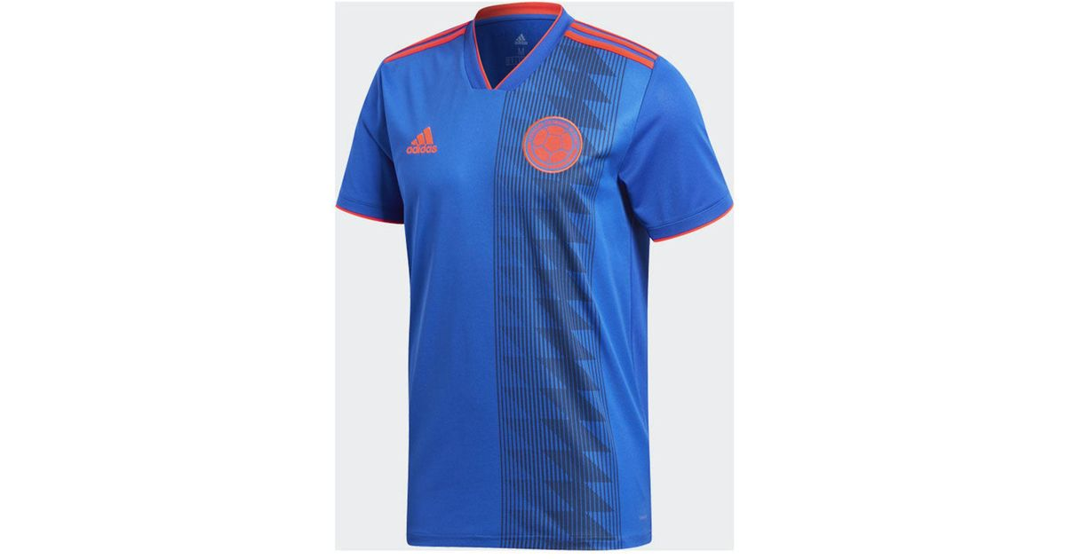 sports shoes 09c10 5ebed Adidas - Blue Colombia National Team Away Stadium Jersey for Men - Lyst
