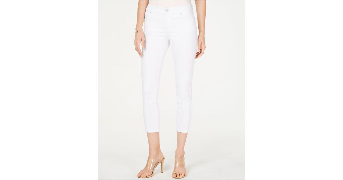 Inc International Concepts Petite Cropped Jeans White