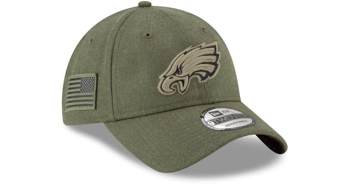 d8f3cc3da26 Lyst - KTZ Philadelphia Eagles Salute To Service 9twenty Cap in Green for  Men