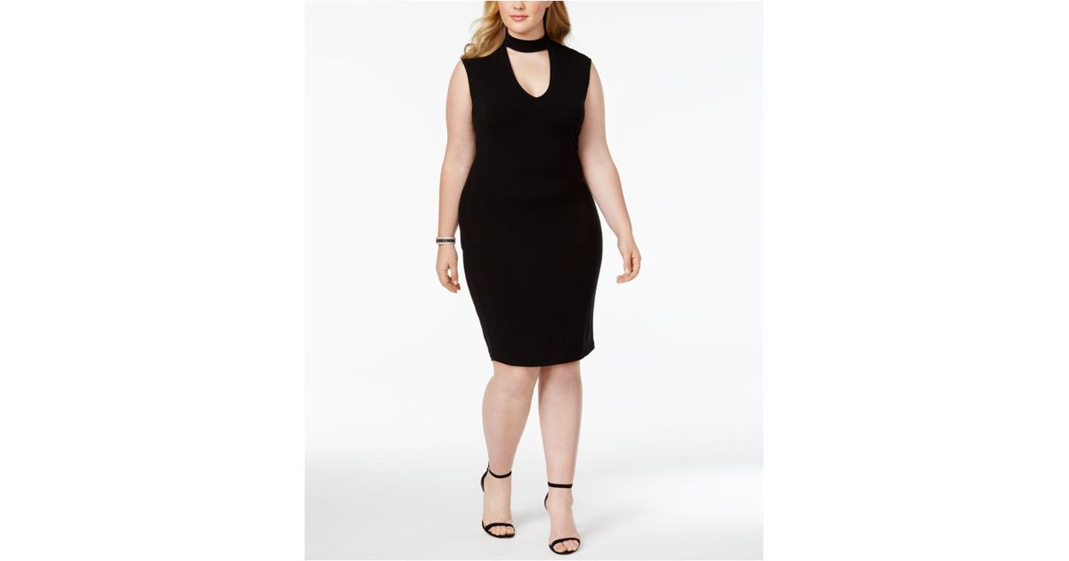 Soprano - Black Plus Size Gigi Bodycon Dress - Lyst