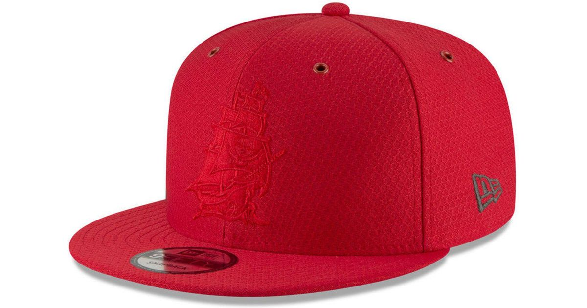 e8ac95574 Lyst - KTZ Tampa Bay Buccaneers On Field Color Rush 9fifty Snapback Cap in  Red for Men