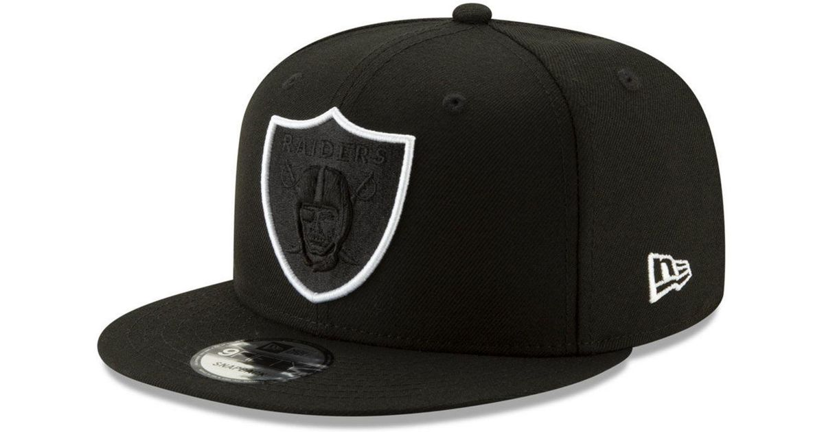 new arrival e957a a5431 KTZ Oakland Raiders Logo Elements Collection 9fifty Snapback Cap in Black  for Men - Lyst