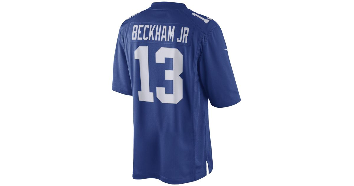 buy online b153f 7dd9f Nike Blue Men's Odell Beckham Jr. New York Giants Limited Jersey for men