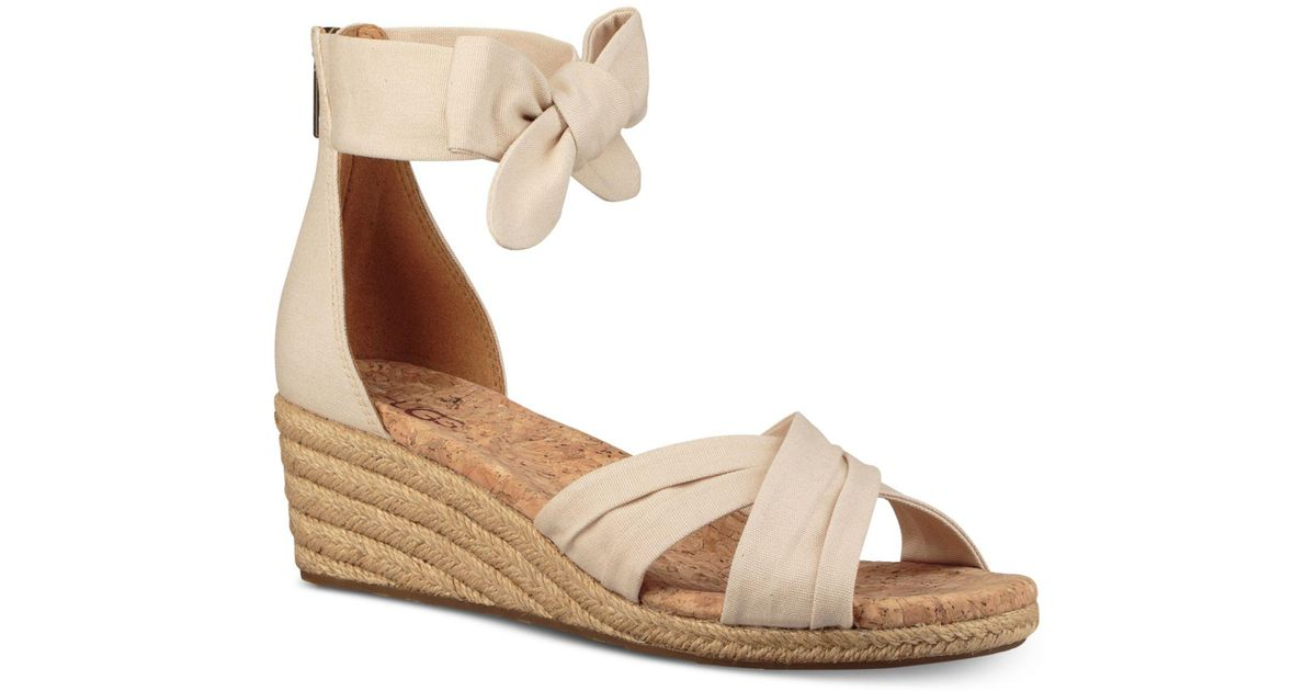 5c9eb7280f1 Ugg Natural Traci Espadrille Wedge Sandals