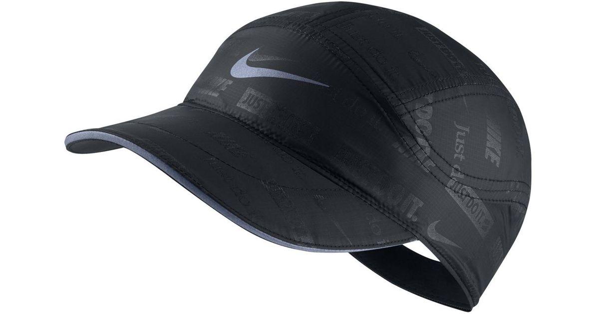 76f7e90c79c88 Nike Black Tailwind Dri-fit Logo-print Hat for men