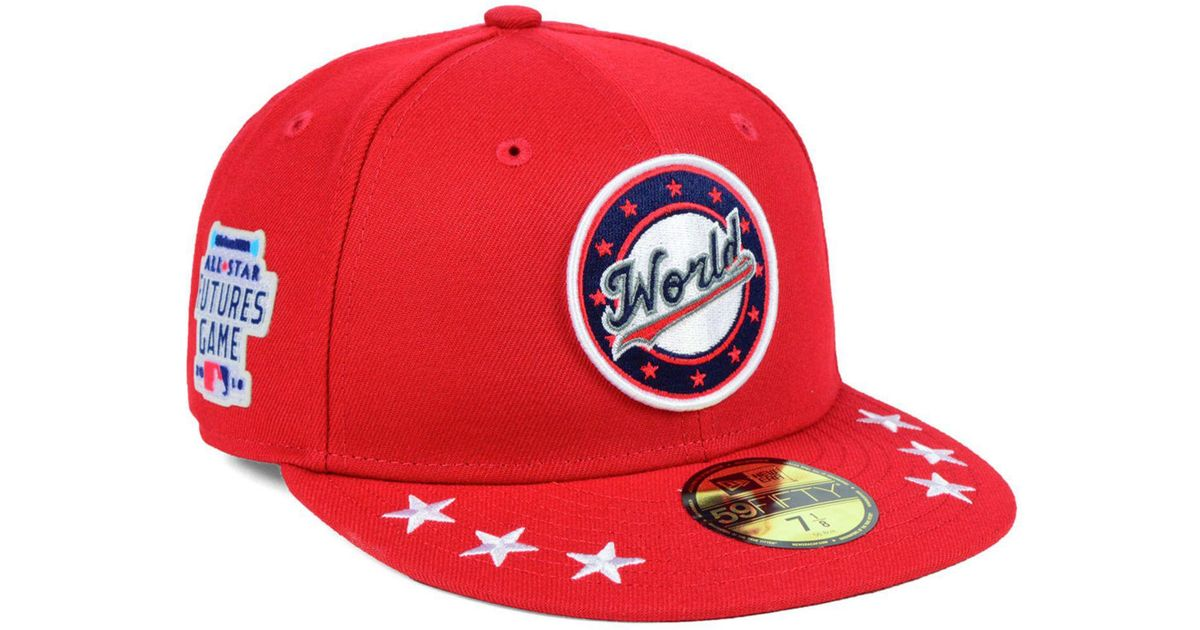 54b807e4e32 Lyst - KTZ World Baseball Futures Patch 59fifty Fitted Cap 2018 in Red for  Men