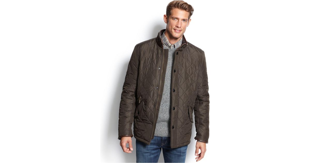 be0985c74a87 Lyst - Barbour Powell Quilted Jacket in Green for Men