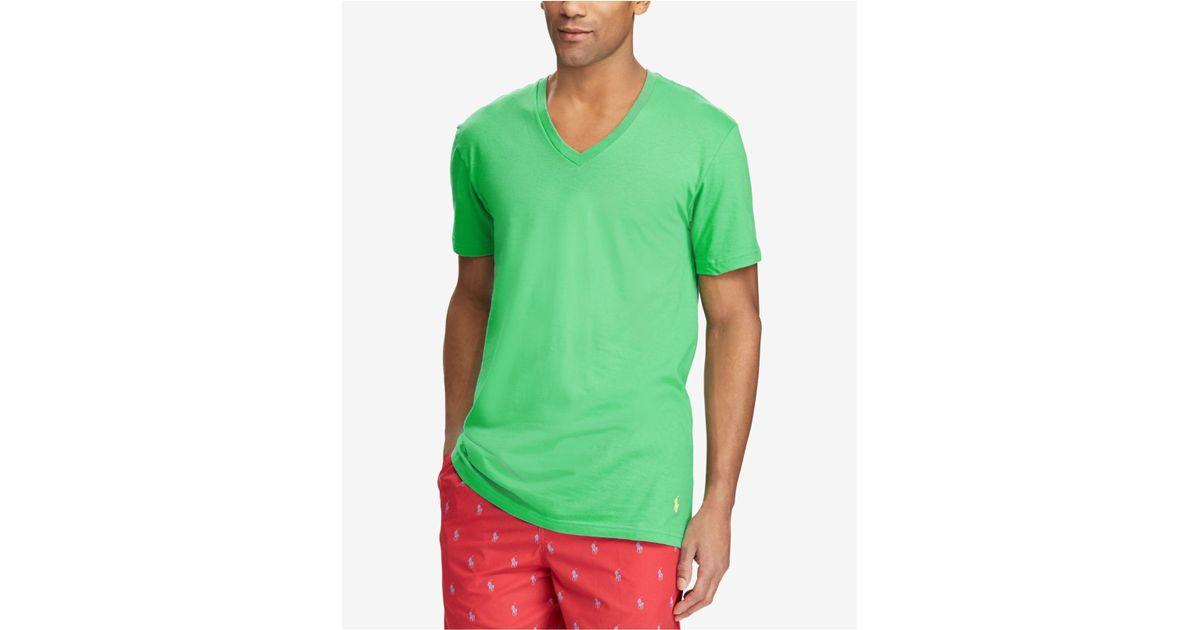 62e3dcca Polo Ralph Lauren Classic Fit V-neck T-shirts, 3-pack for Men - Lyst