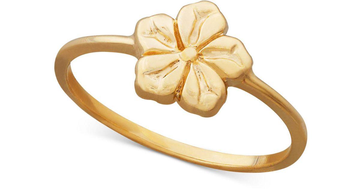 Lyst macys flower ring in 14k gold in metallic mightylinksfo