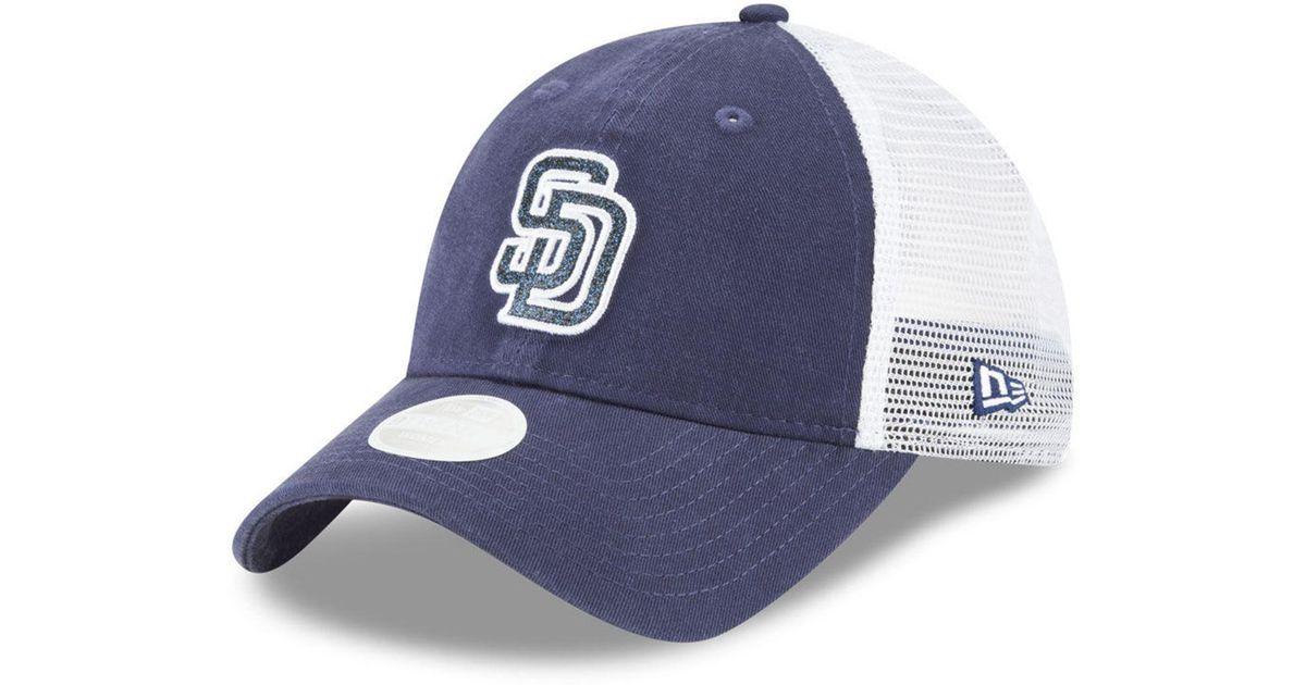 new product 407ed 22e26 Lyst - KTZ San Diego Padres Trucker Shine 9twenty Cap in Blue for Men