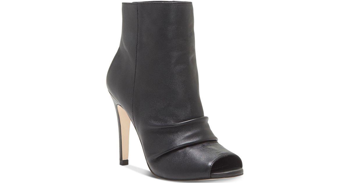 59f9fbafc50 Lyst - Jessica Simpson Womens Elyn Leather Peep Toe Ankle Fashion Boots in  Black
