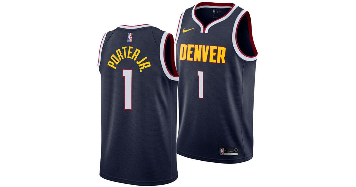 best website 02105 c20f0 Nike Blue Michael Porter Jr. Denver Nuggets Icon Swingman Jersey for men