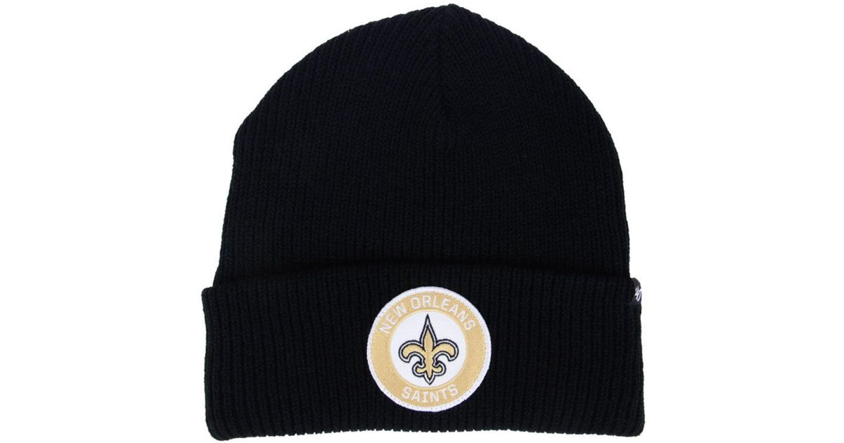 size 40 4d681 4130c 47 Brand New Orleans Saints Ice Block Cuff Knit Hat in Black for Men - Lyst
