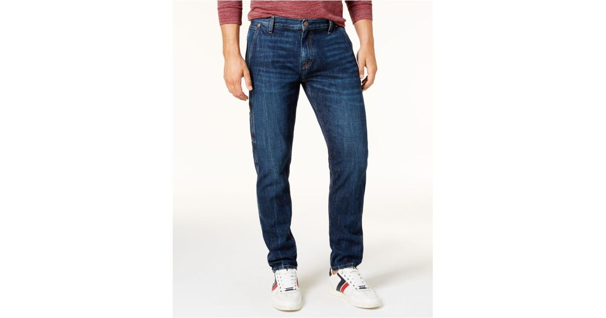 c34f9ed4 Tommy Hilfiger Men's Relaxed Tapered Carpenter Jeans in Blue for Men - Lyst