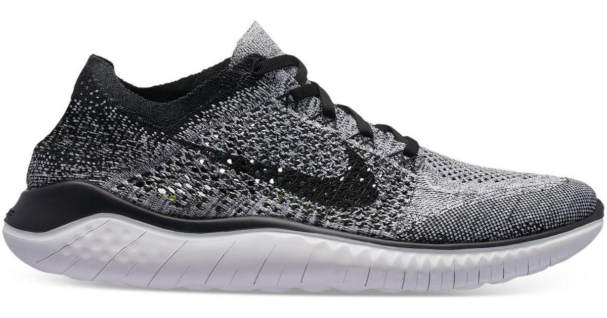 Nike Black Free Rn Flyknit 2018 Shoes - Size 8 for men