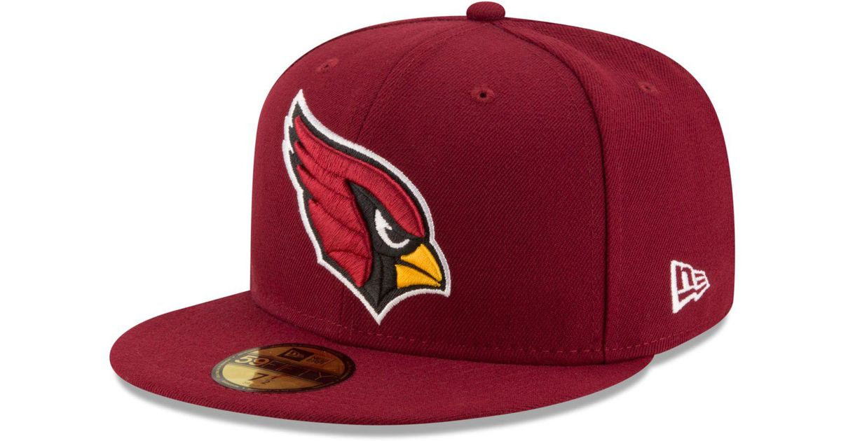 save off 2704a d1bf3 KTZ Arizona Cardinals Team Basic 59fifty Cap in Red for Men - Save 8% - Lyst