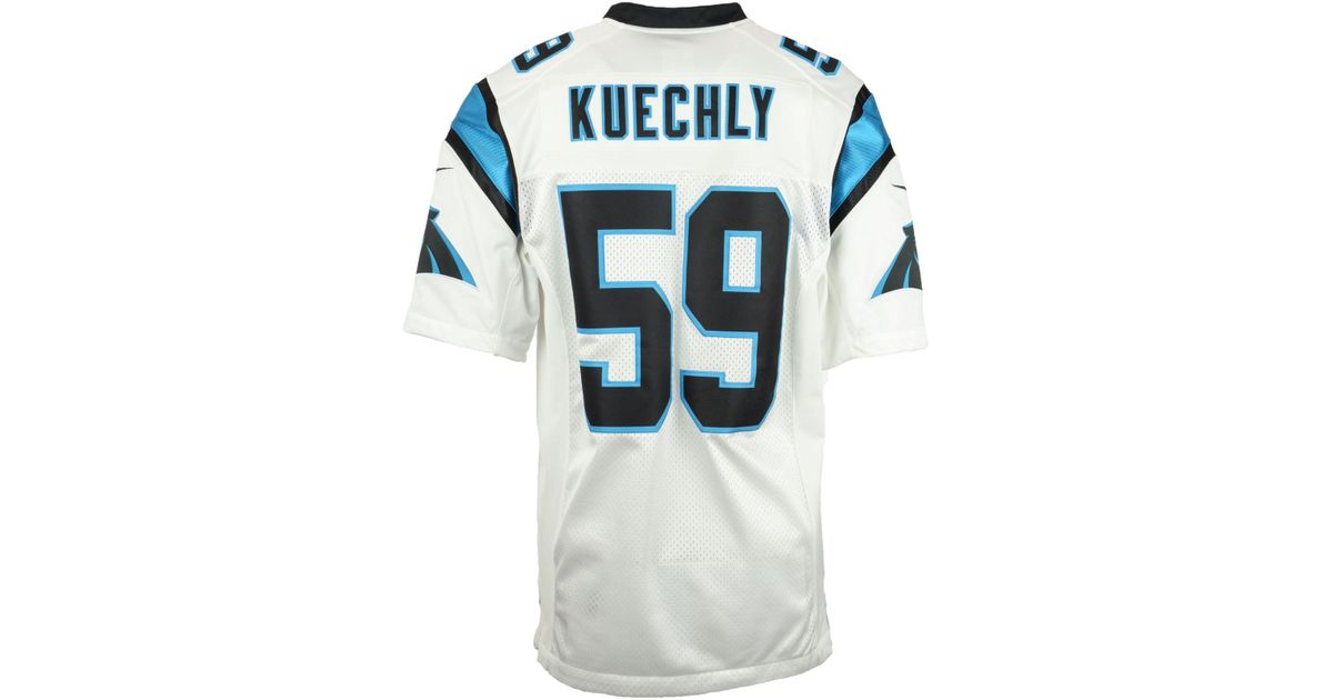 the best attitude 30456 23ce3 Nike White Men's Luke Kuechly Carolina Panthers Limited Jersey for men