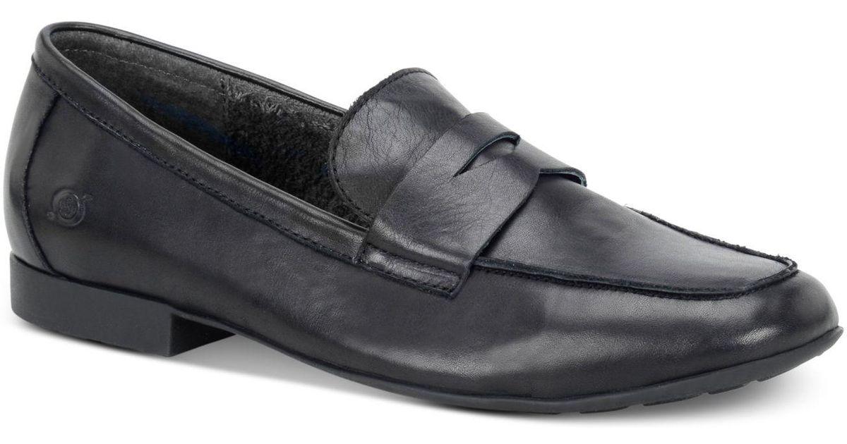 1cd37250ea8 Lyst - Born Men s Dave Penny Moc-toe Slip-on Loafers in Black for Men -  Save 55%