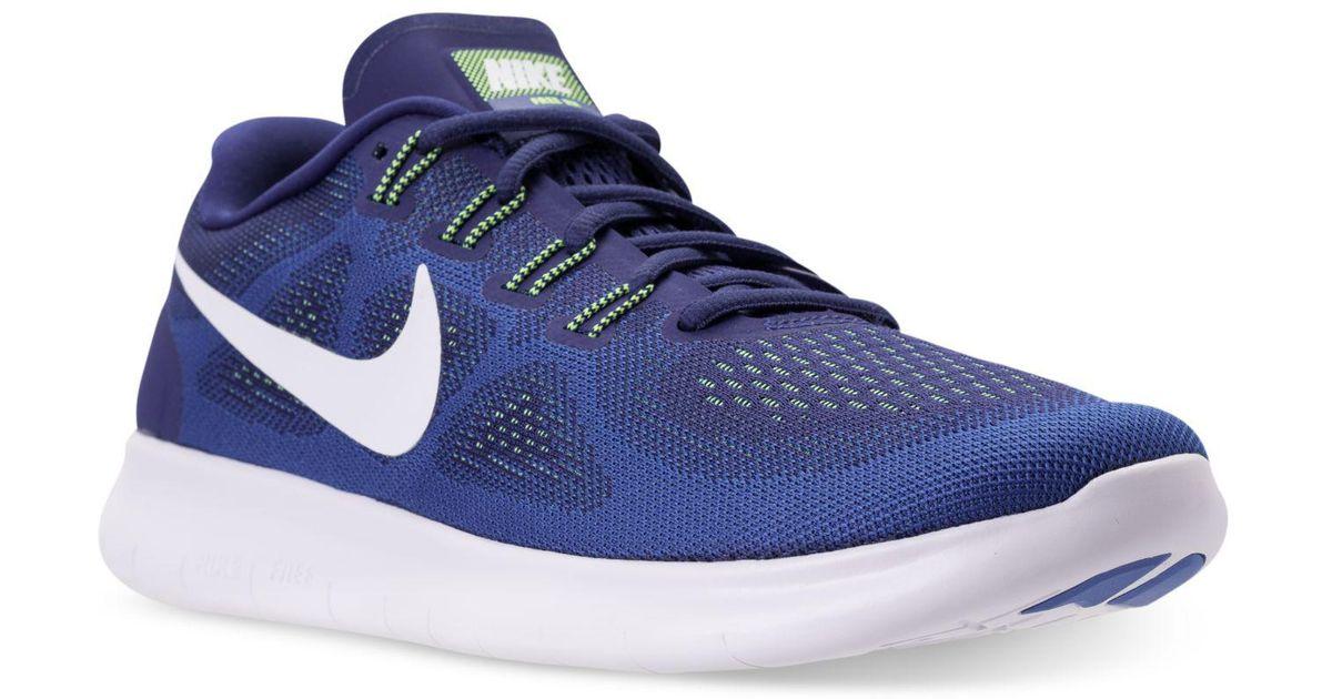 1de43e5ce015 Lyst - Nike Men s Free Run 2017 Running Sneakers From Finish Line in Blue  for Men