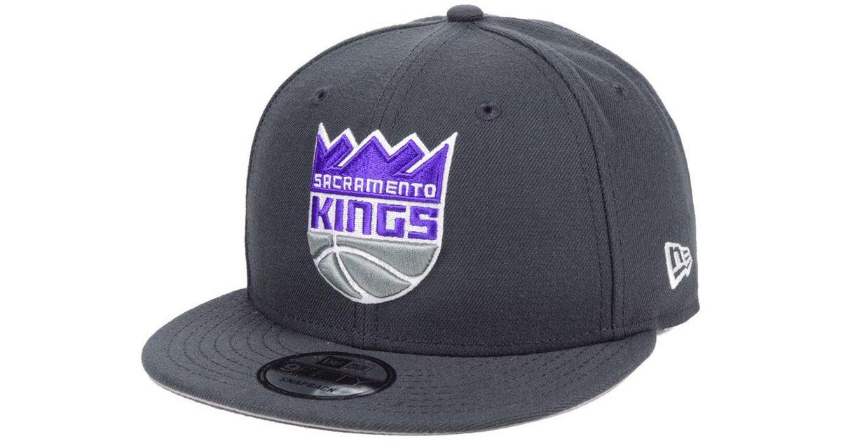 low priced e33b5 dc367 ... switzerland lyst ktz sacramento kings basic 9fifty snapback cap in gray  for men 5cc06 de36e