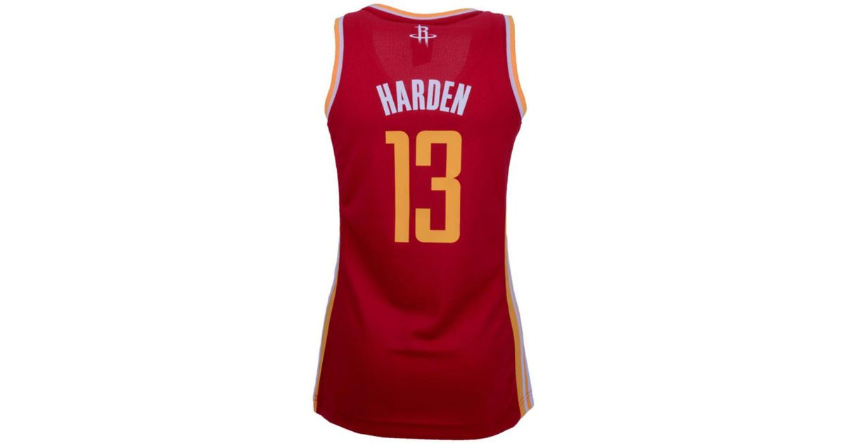 big sale 479cd d2813 Adidas Originals Red Women's Houston Rockets James Harden Replica Jersey