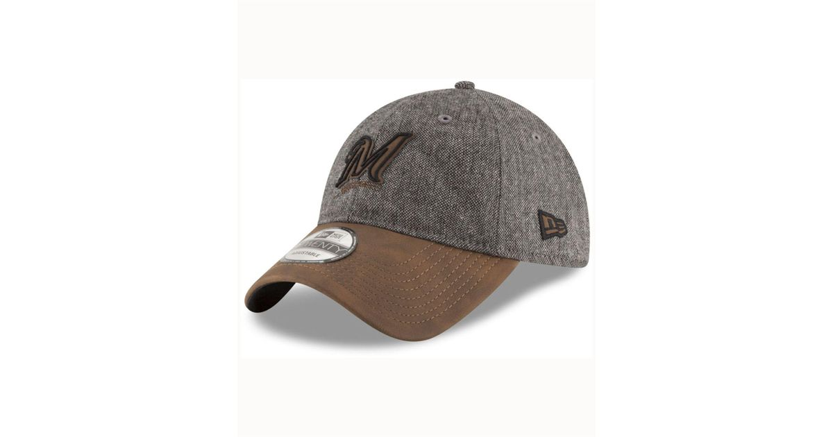 huge selection of 5f224 0b084 Lyst - KTZ Milwaukee Brewers Butter Tweed 9twenty Cap in Brown for Men