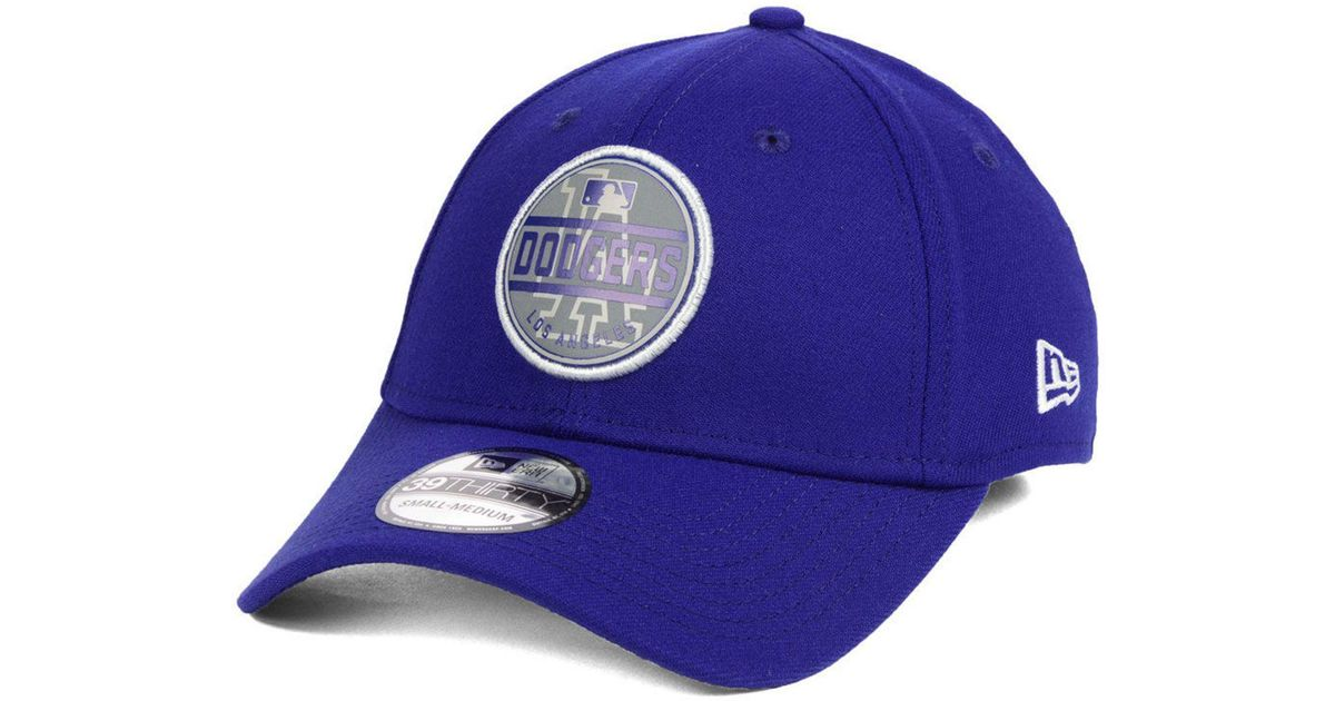 size 40 06ae3 70451 Lyst - KTZ Los Angeles Dodgers Circle Reflect 39thirty Stretch Fitted Cap  in Blue for Men