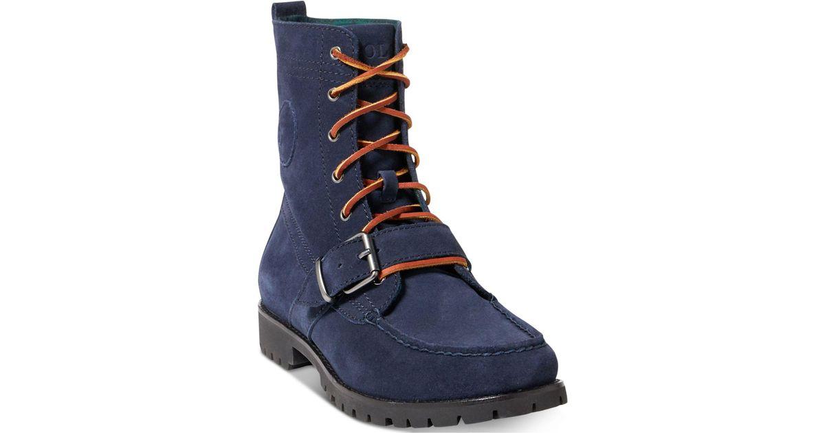 polo ralph lauren ranger boots navy