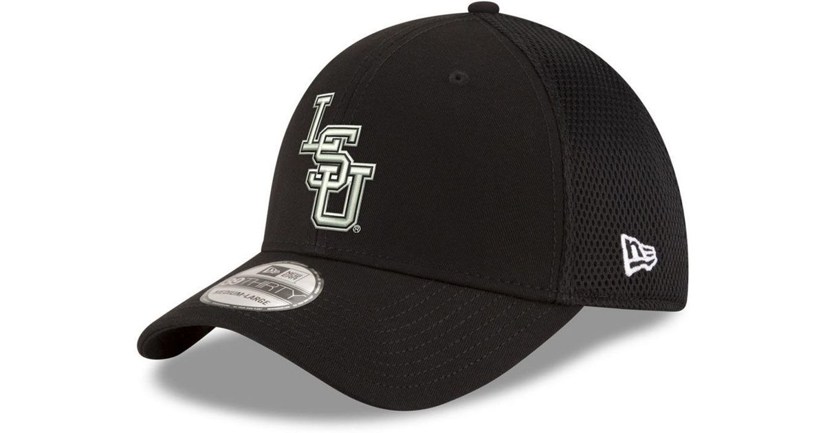 huge selection of 94d1e 3b441 ... discount lyst ktz lsu tigers black white neo 39thirty cap in black for  men e5908 4b9bf