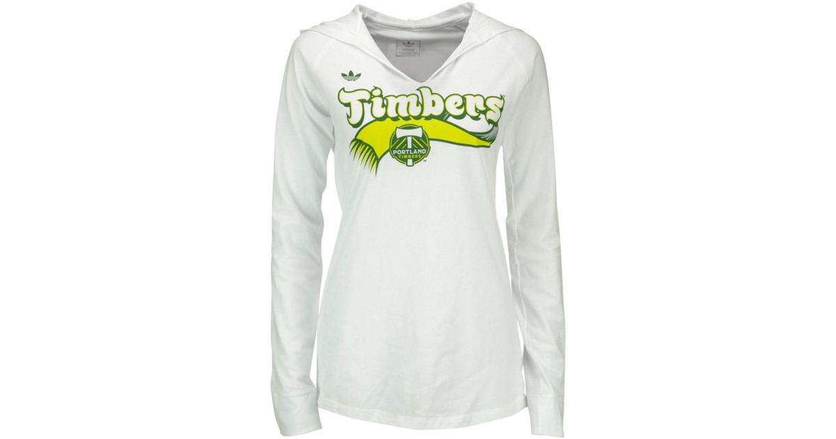 the best attitude 71473 92e0d Adidas - White Portland Timbers Hooded T-shirt - Lyst
